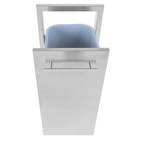 BBQ island trash can drawer 03